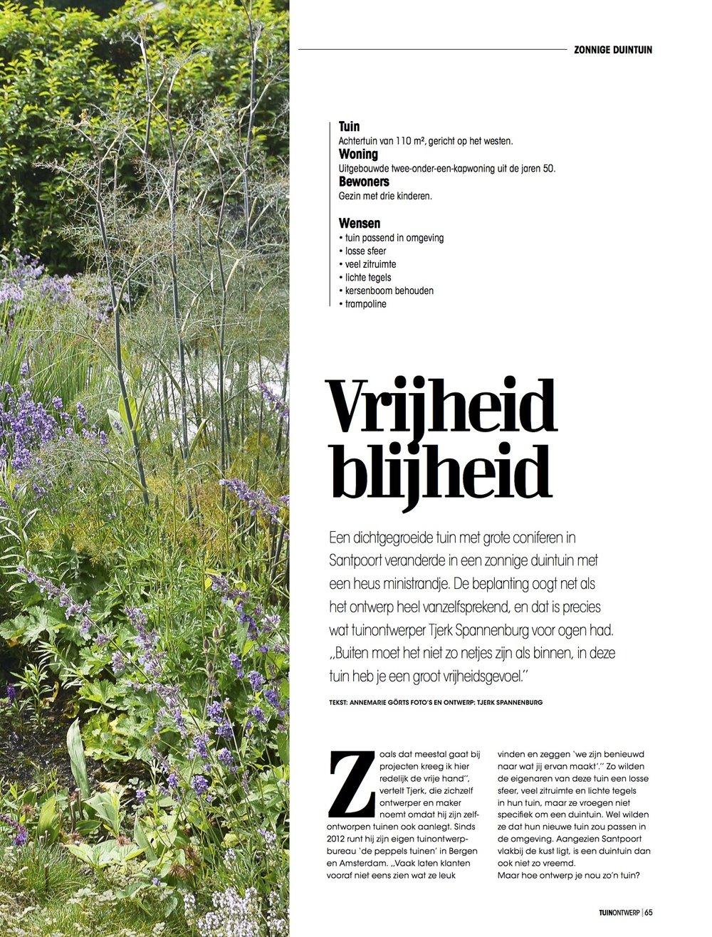 In de tuinbladen tuinontwerp of tuinarchitect wij for Tuinontwerp boek