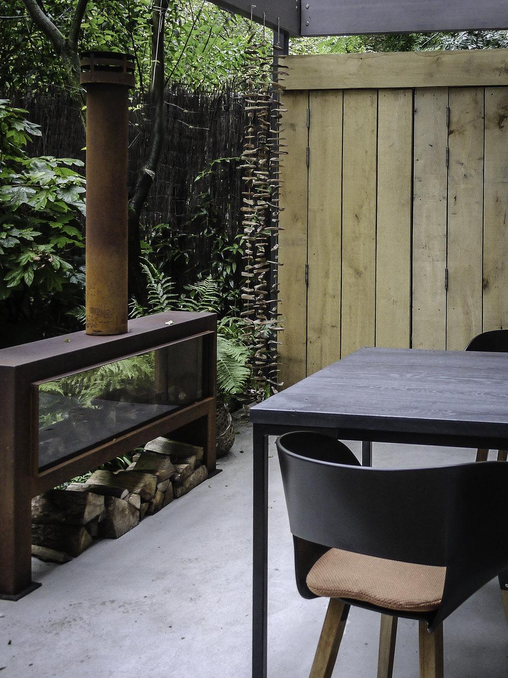 Tuinontwerp Amsterdam met veranda