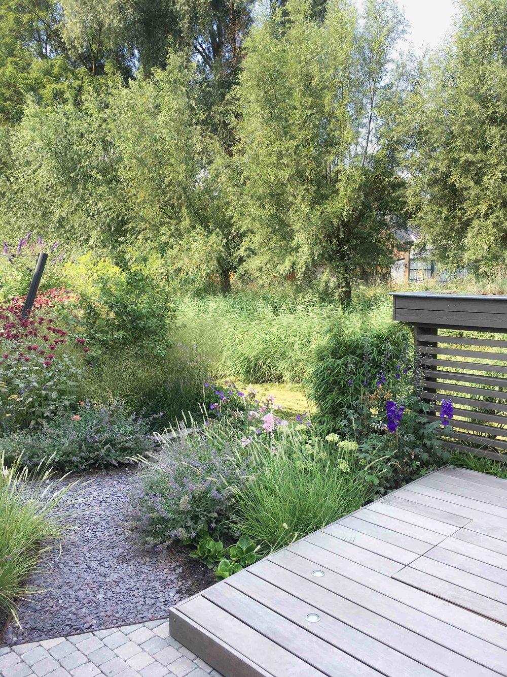 tuinontwerp met tuinhuis