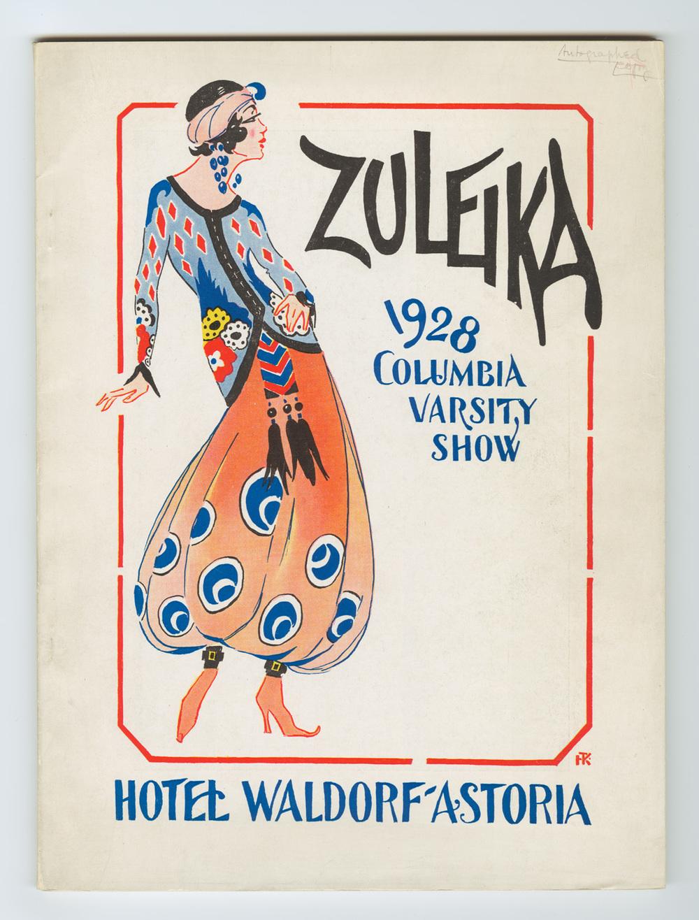 Zuleika program cover - 1928.jpg