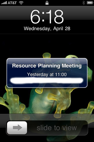 iPhone 4.0 calendar FAIL