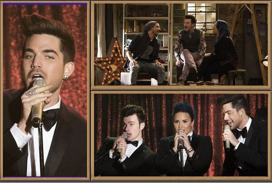 Adam Lambert on Glee on Fox TV wearing Hans Haveron Stag Beetle Ring