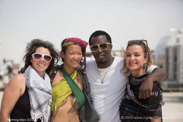 With Jessi Hernreich, Sean Combs AKAPuff Daddy, and Dream Rockwell from Lucent Dossier discussing GRACE tattoo