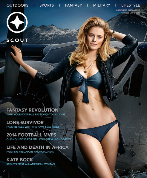 Scout Cover with Kate Bock wearing Trilliant Ring by Shiang
