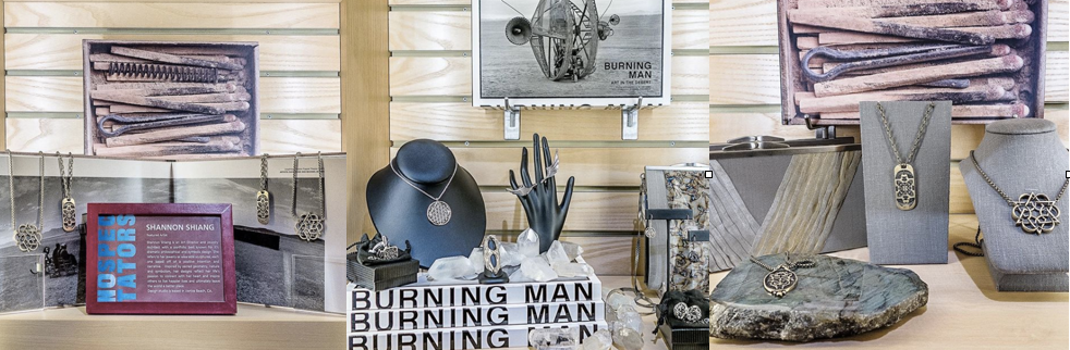 Display at the Smithsonian Renwick Gift Shop for the NO SPECTATORS exhibit