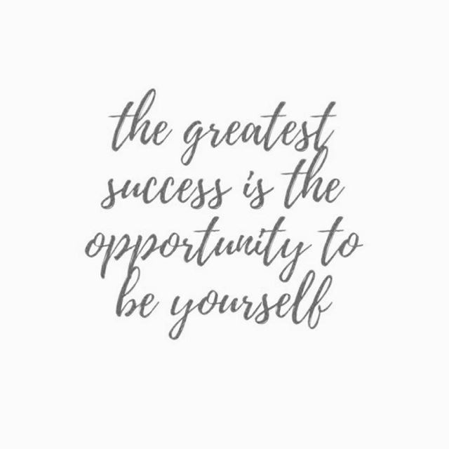 The greatest #success is the opportunity to #beyourself #inspirational #inspirationalquotes #unique #quotes #quotestoliveby #quoteoftheday