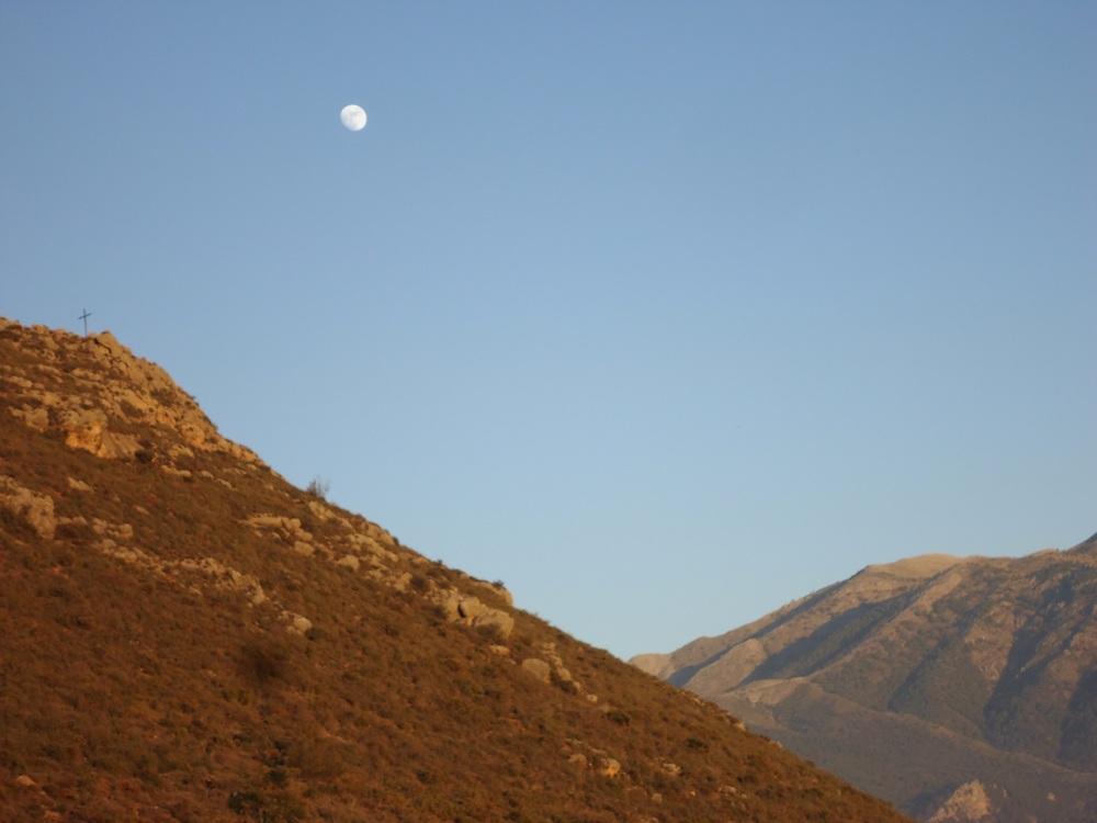 Hill, moon, cross.....!