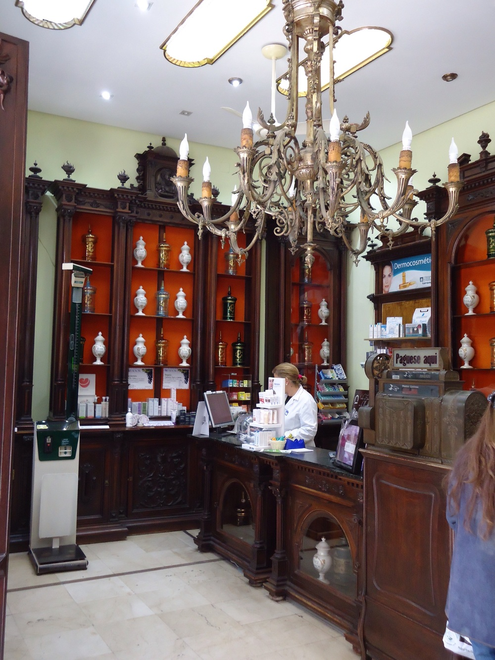 Original interior of a chemist shop!