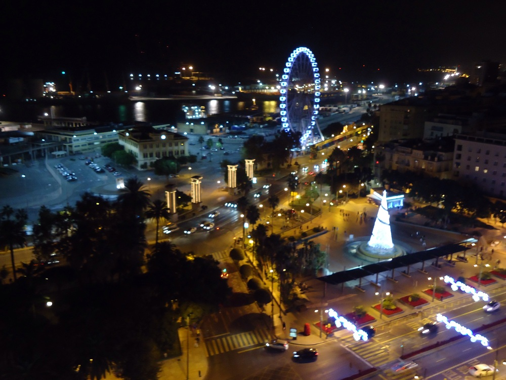 Looking over to the big wheel...from the hotel roof bar