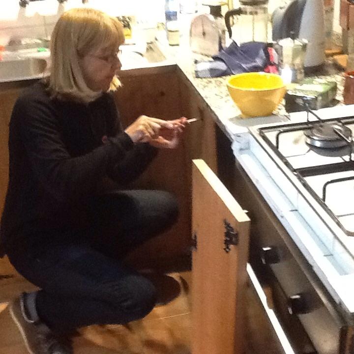 Anne hard at work