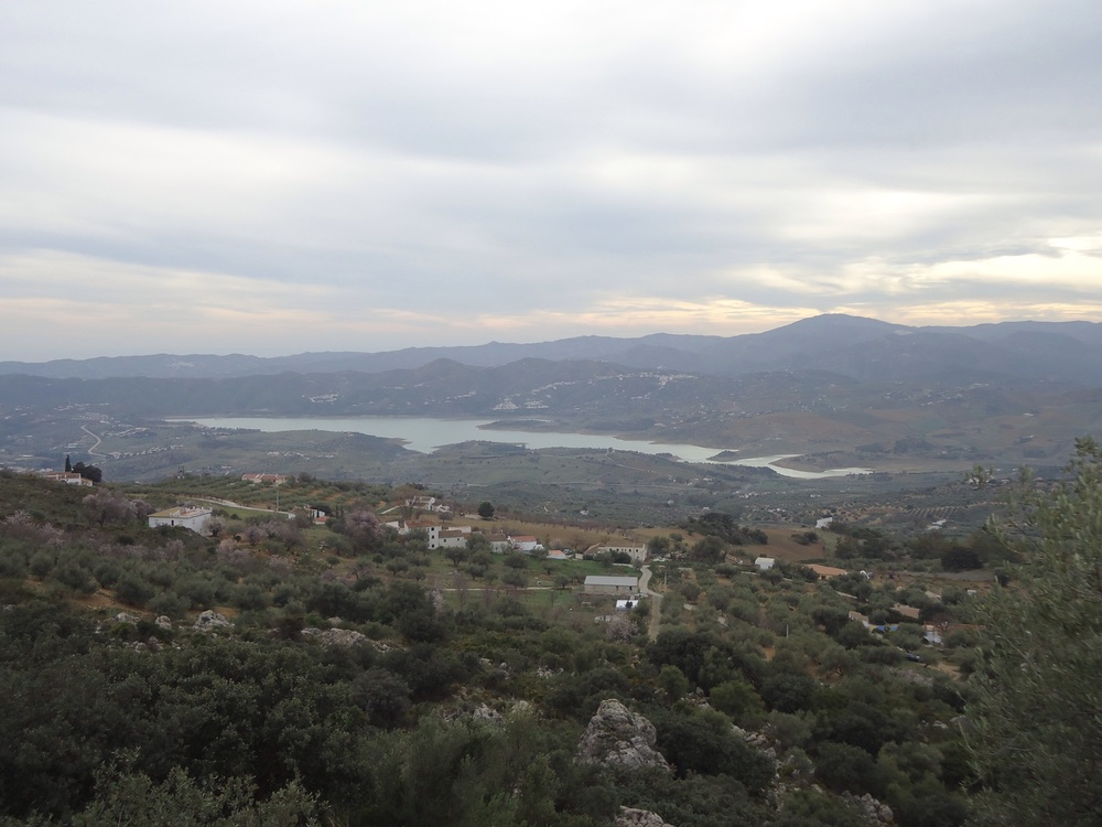 The view on the way down, looking over to Lake Vinuela