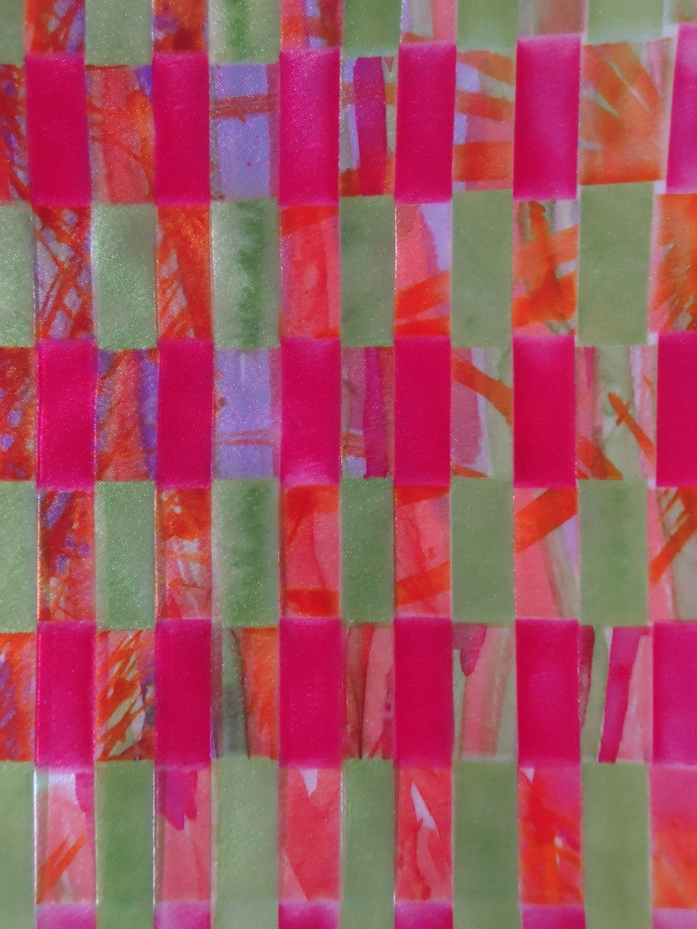 Paper weaving printed onto fabric