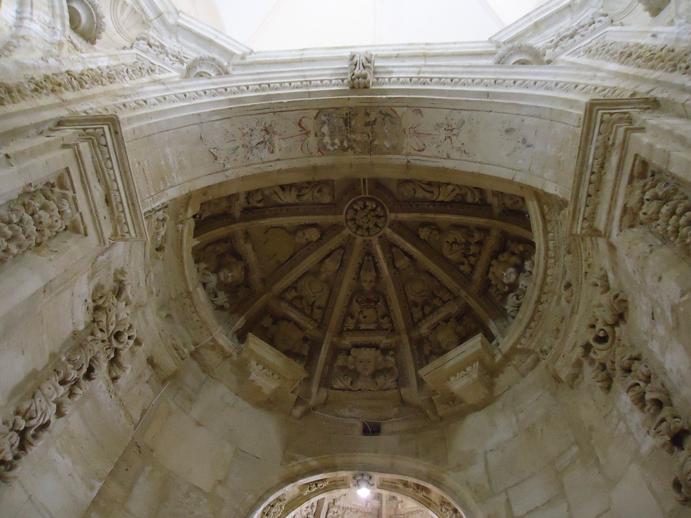 More plaster work and the dome of the side alter.