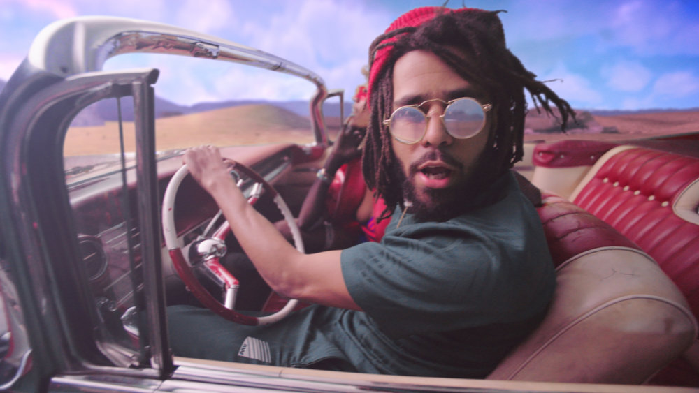 A moment from the recently completed J.Cole ATM music vid featuring a ton of stylized VFX shots.