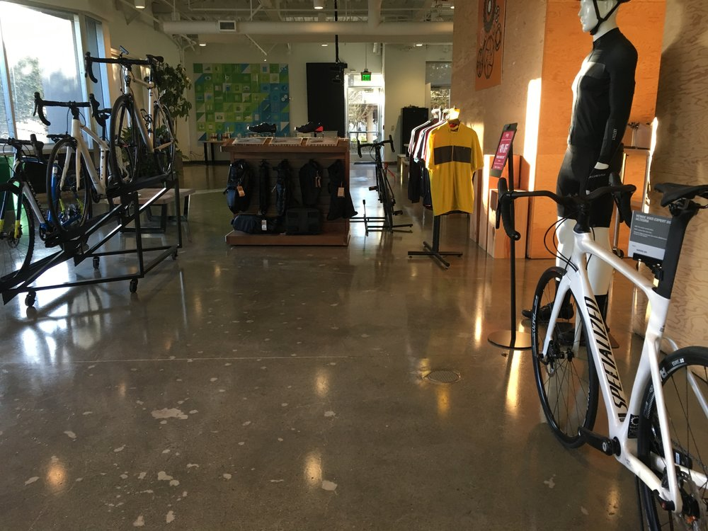 fully realized and created Bike shop in the offices of Evernote based on my original designs.
