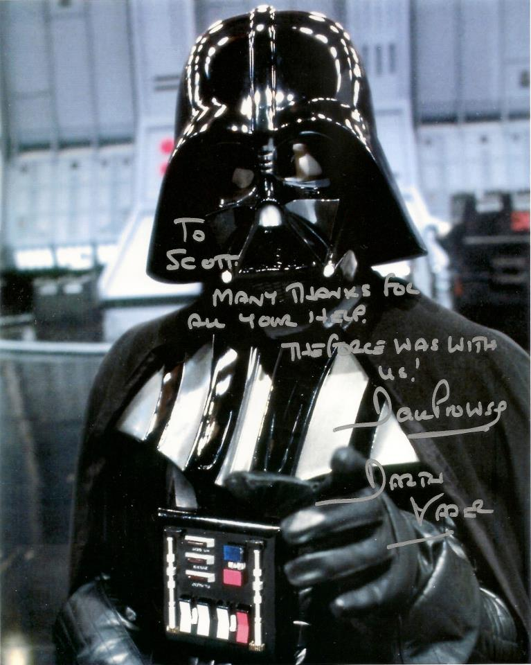 CLICK  -  David Prowse as Darth Vader Testimonial