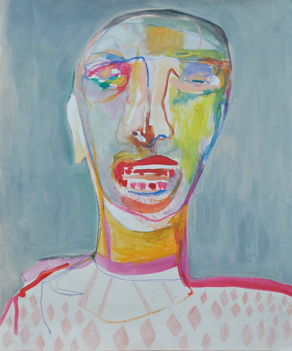NADIA HAJI OMAR, 2011, Teeth Worn Down, Mixed Media on Paper, 42cm x 35cm.jpg