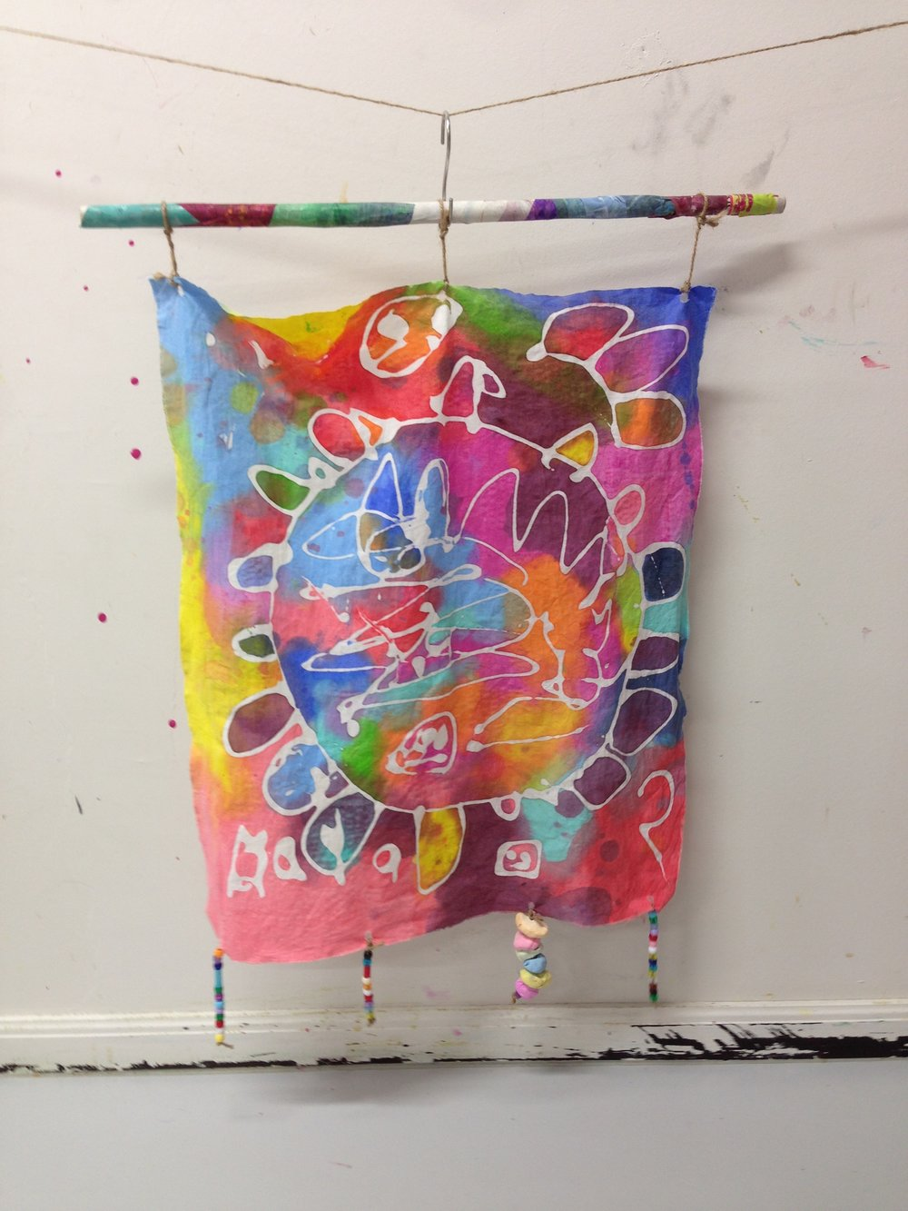 Faux-batik Tapestry