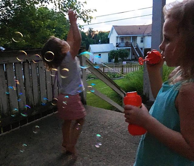 Summer evenings are meant for blowing bubbles.