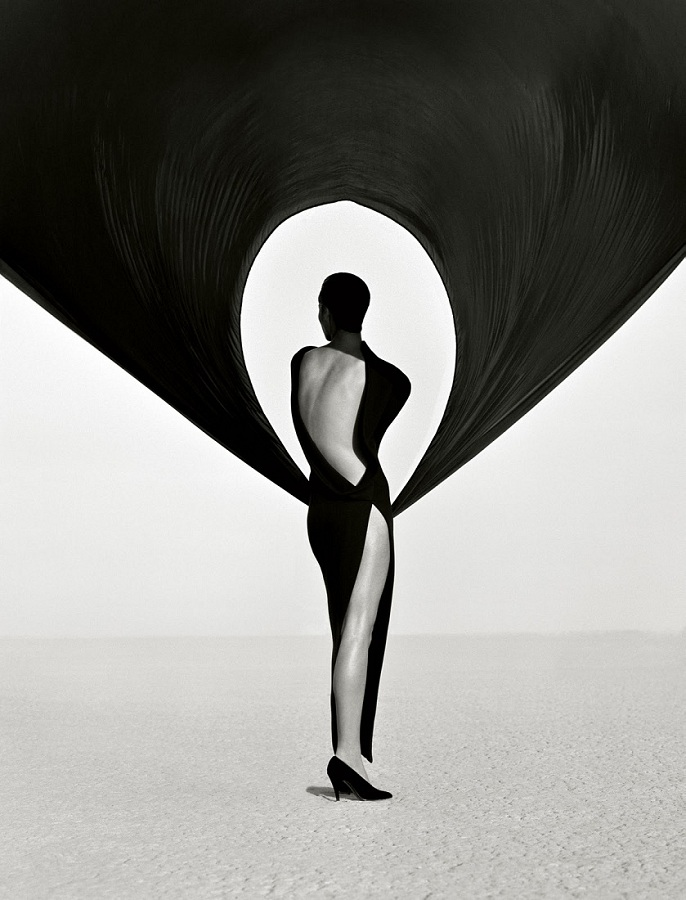 Herb Ritts / Versace Dress / El Mirage / 1990