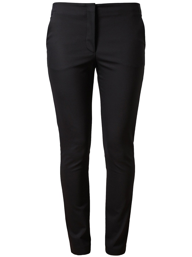 Navy tailored stretch cotton trousers /   THE ROW