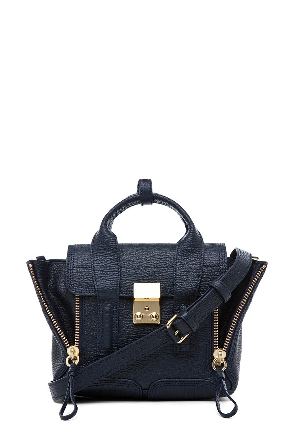 Pashli mini satchel in ink /   PHILLIP LIM