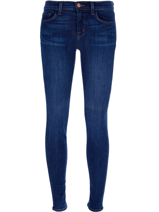 Blue bell cotton skinny fit jeans /   J BRAND