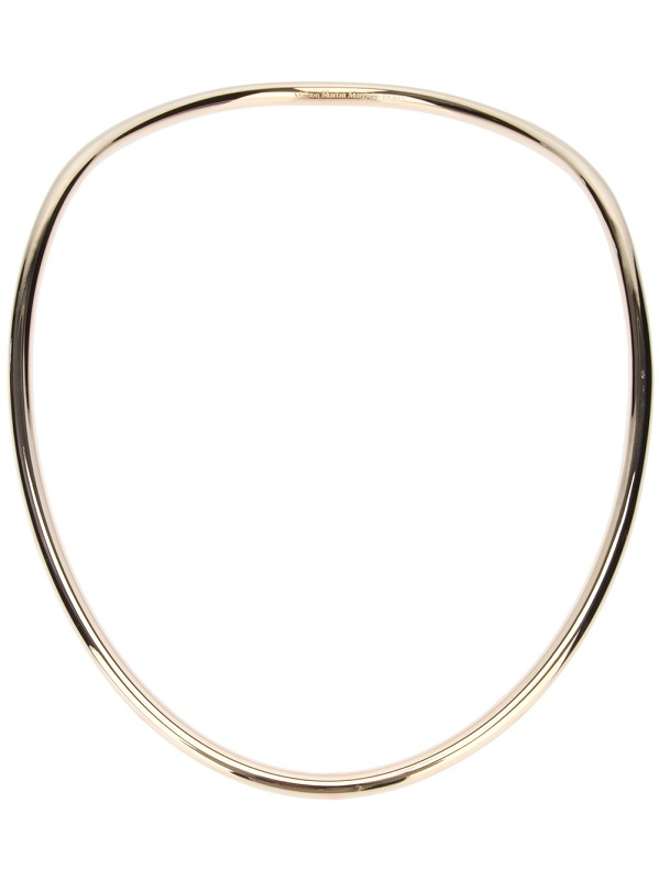 Silver tone moulded necklace /   MAISON MARTIN MARGIELA