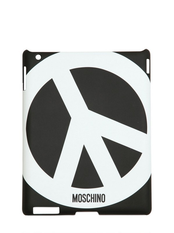 Black peace printed iPad case /   MOSCHINO