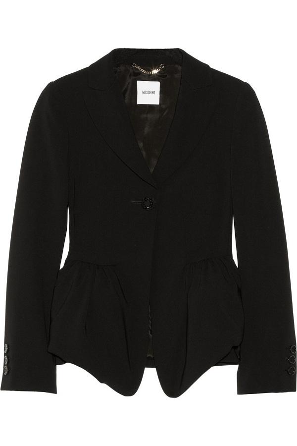 Crepe peplum jacket /   MOSCHINO