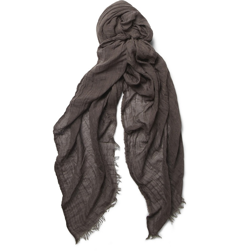 Fine modal and linen blend scarf /   RICK OWENS