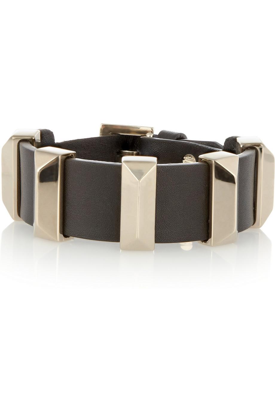 Glam studs leather bracelet /   VALENTINO