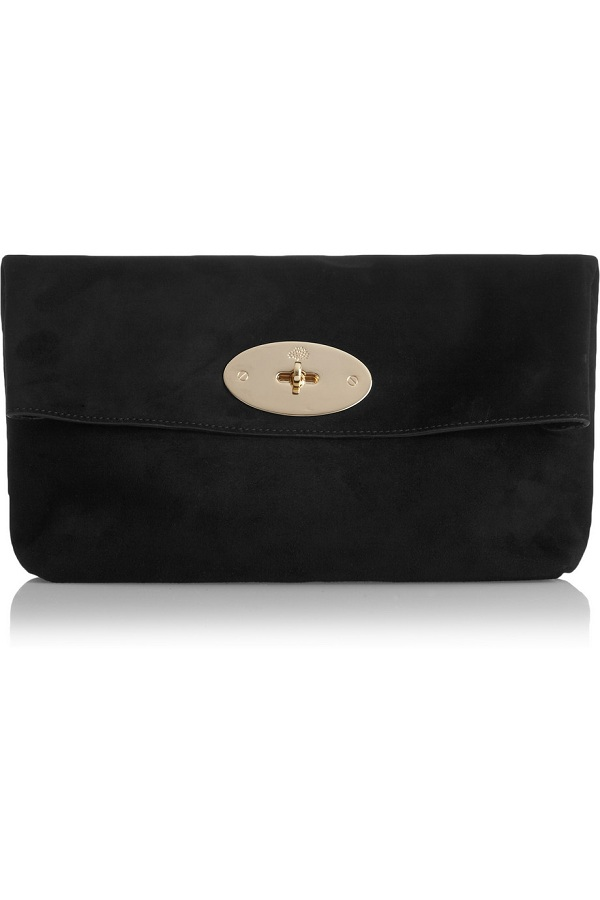 Suede clemmie clutch /   MULBERRY