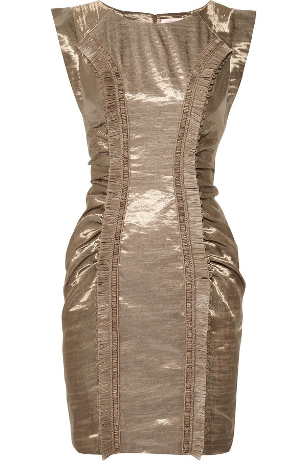 Linen-sateen dress /   MATTHEW WILLIAMSON