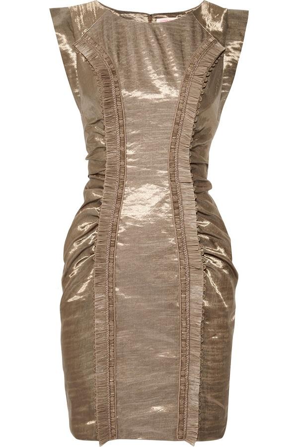 Linen-sateen dress /   MATTHEW WILLIAMSON