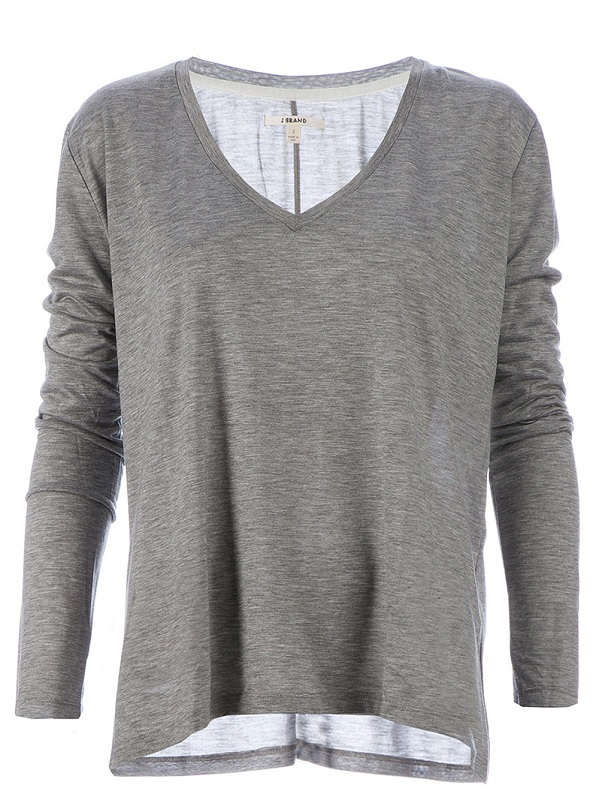 V-neck long sleeve top /   J BRAND