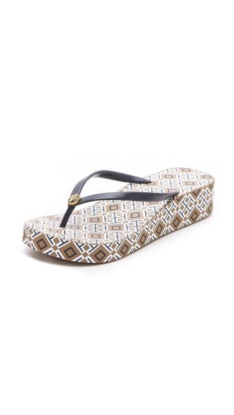 Thandi wedge flip flops /   TORY BURCH