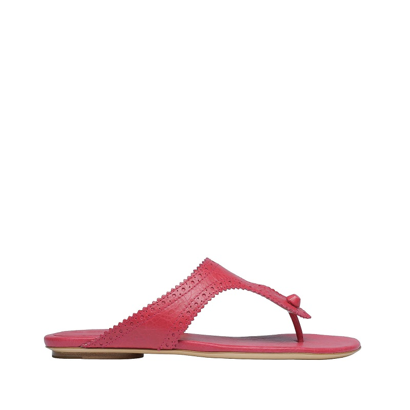 Toe strap flip flops with perforation detail /   BALENCIAGA