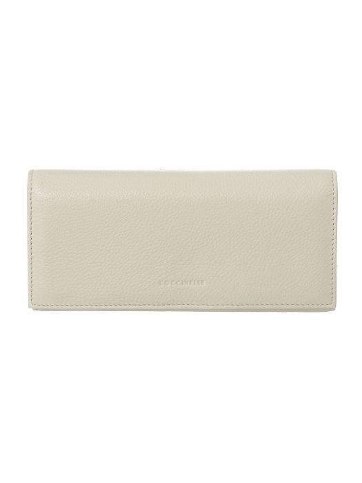 COCCINELLE   beige large flapover purse