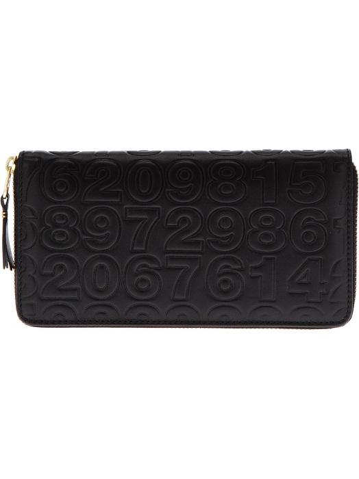 COMME DES GARCONS   black embossed purse