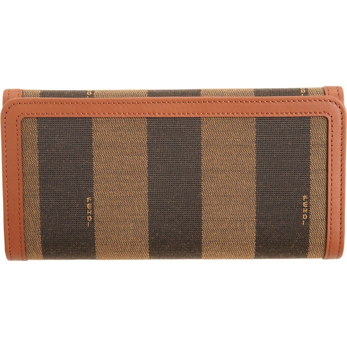 FENDI   brown pequin stripe continental wallet