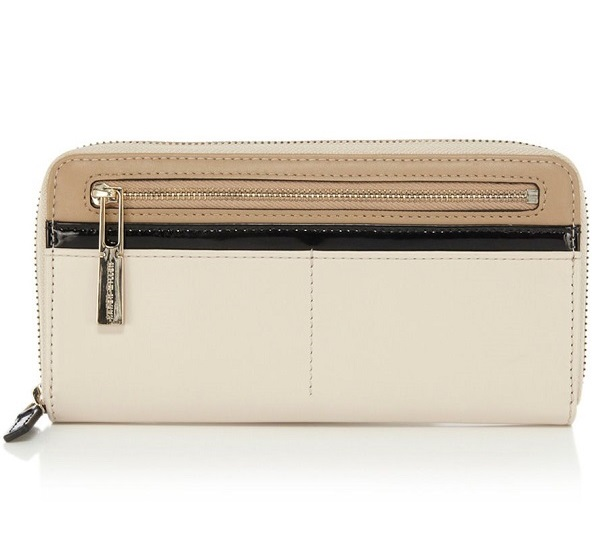 KAREN MILLEN   beige colour block purse