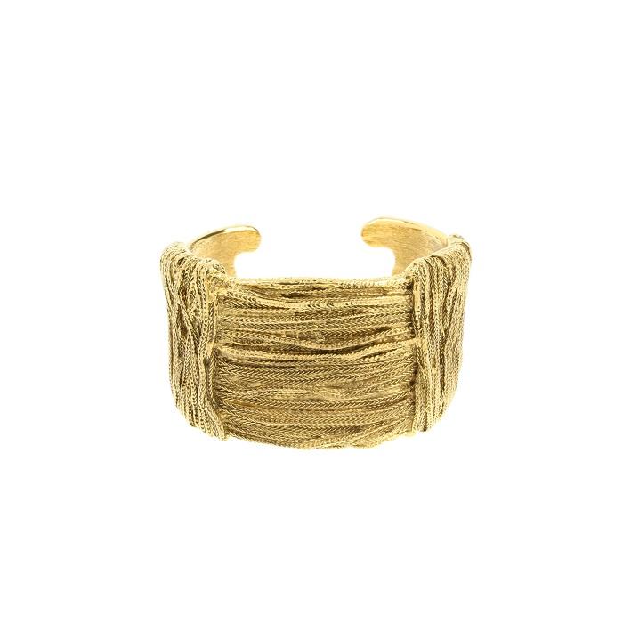 AURELIE BIDERMANN   18k goldplated cuff bracelet