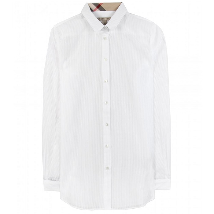 BURBERRY BRIT   white striped button down shirt