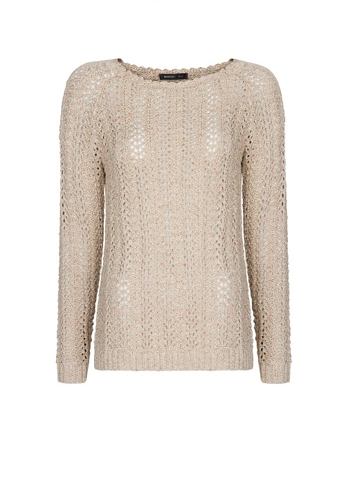 MANGO   metallic openwork sweater