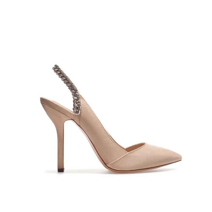 ZARA   slingback chain court shoe