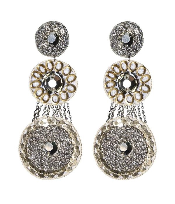 SUZANNA DAI  grey Antwerp drop earrings