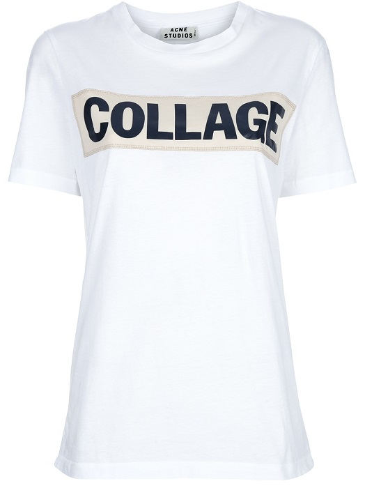 ACNE   Collage motif t-shirt
