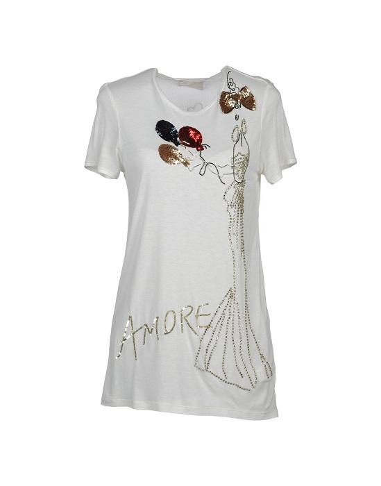 LANVIN   Amour motif t-shirt