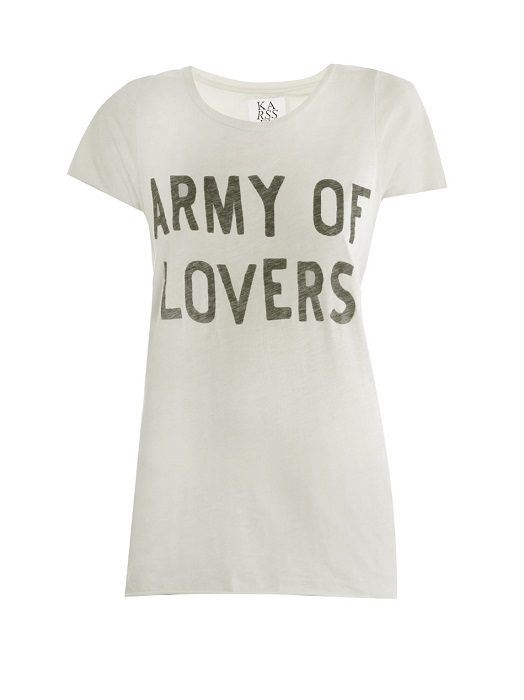ZOE KARSSEN   Army of Lovers motif t-shirt